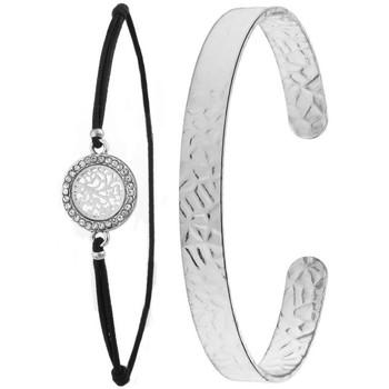 Montres & Bijoux Femme Bracelets Sc Bohème B1368+B2500-ARGENT Argenté