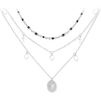 Montres & Bijoux Femme Colliers / Sautoirs Sc Bohème B2222+B2380-NOIR Argenté