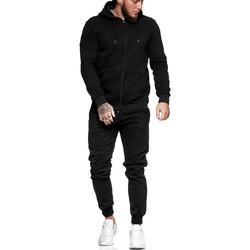 Vêtements Homme Ensembles de survêtement Monsieurmode Survêtement uni pour homme Survêt 3000 noir Noir