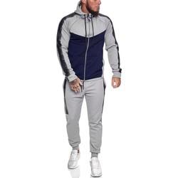 Vêtements Homme Ensembles de survêtement Monsieurmode Survêtement fashion homme Survêtement 1053 gris Gris