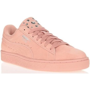 Chaussures Femme Baskets basses Puma SUEDE JAWEL Rose