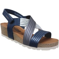 Chaussures Femme Sandales et Nu-pieds Mephisto Renza Bleu cuir
