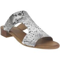 Chaussures Femme Mules K.mary Kir Gris metal cuir