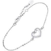 Montres & Bijoux Femme Bracelets Lotus Bracelet  Silver coeur Blanc
