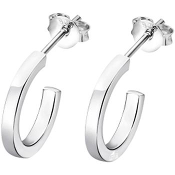 Montres & Bijoux Femme Boucles d'oreilles Lotus Boucles d'oreilles  Silver argent Blanc