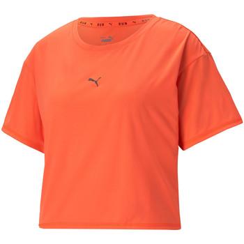 Vêtements Femme T-shirts manches courtes Puma Tee-shirt  RUN Orange