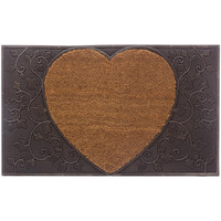 Maison & Déco Tapis Five Tapis Paillasson rectangle Coeur en Coco 45 x 75 cm Marron