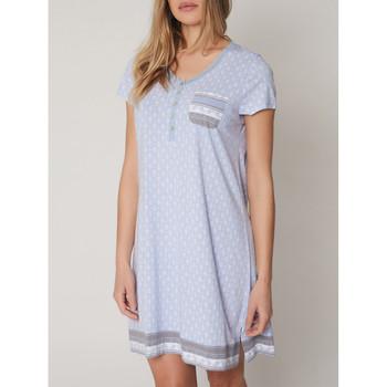 Vêtements Femme Pyjamas / Chemises de nuit Admas Chemise de nuit manches courtes Small Dots Bleu