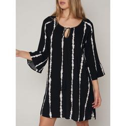Vêtements Femme Robes courtes Admas Robe de plage manches trois quarts Tie And Dye Noir