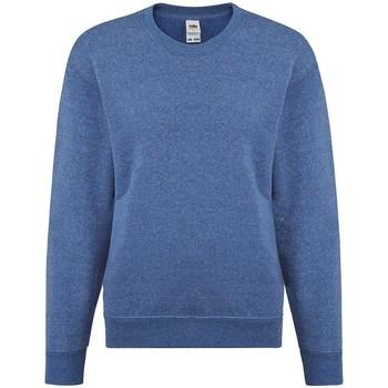 Vêtements Fille Sweats Fruit Of The Loom SS9B Bleu roi chiné