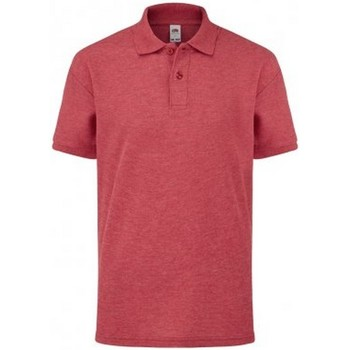 Vêtements Enfant Polos manches courtes Fruit Of The Loom SS11B Rouge chiné