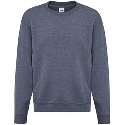 Vêtements Fille Sweats Fruit Of The Loom SS9B Bleu marine chiné