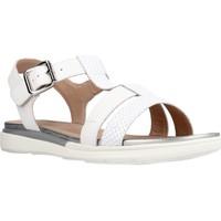 Chaussures Fille Sandales et Nu-pieds Geox D SANDAL HIVER B Blanc