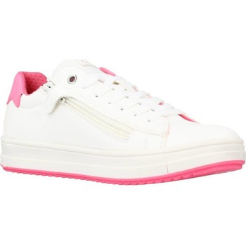 Chaussures Fille Baskets basses Geox J REBECCA GIRL A Blanc