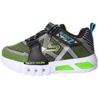Chaussures Garçon Baskets basses Skechers - Flex glow nero 90543N BKLM NERO