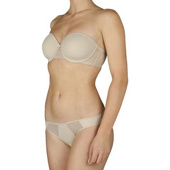 Sous-vêtements Femme Brassières Selene Soutien-gorge sans bretelles à armatures Silvia Marron