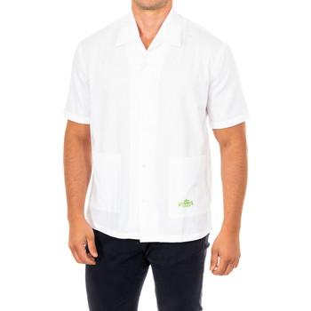 Vêtements Homme Chemises manches courtes La Martina Chemise à manches courtes Blanc