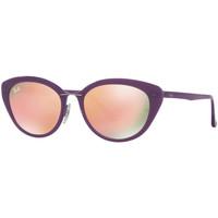 Montres & Bijoux Femme Lunettes de soleil Ray-ban Lunettes  Lightray Violet
