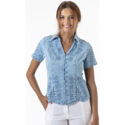 Vêtements Femme Chemises / Chemisiers La Cotonniere CHEMISIER CINTRE Bleu