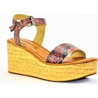 Chaussures Femme Sandales et Nu-pieds Sandro Rosi rosi ROUGE PYTHON
