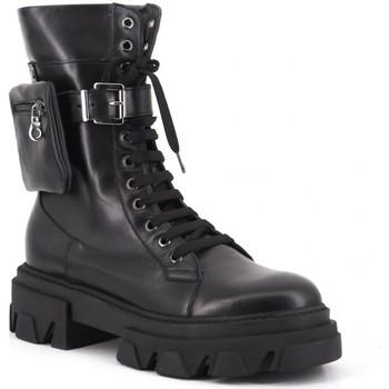 Chaussures Femme Bottines Aria Shoes Stivale Nero Noir