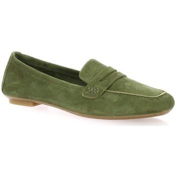 Chaussures Femme Mocassins Reqin's Mocassins cuir velours  olive Olive
