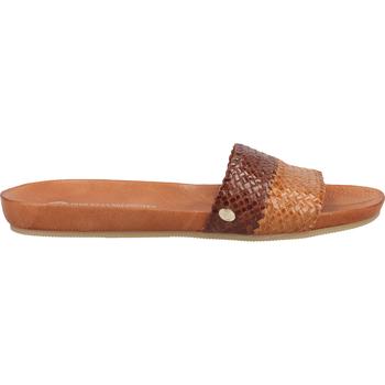 Chaussures Femme Sabots Fred de la Bretoniere Mules Gelb/Braun