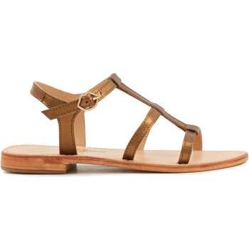 Chaussures Femme et tous nos bons plans en exclusivité Bons Baisers De Paname Sandales en cuir Gabrielle Bronze BRONZE