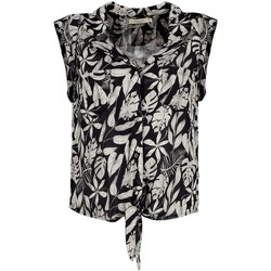 Vêtements Femme Tops / Blouses Deeluxe Blouse SITA Tropical Print Black