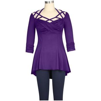 Vêtements Femme T-shirts & Polos Chic Star 79212 Violet
