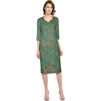 Vêtements Femme Robes Chic Star 82986 Vert / Fleuri