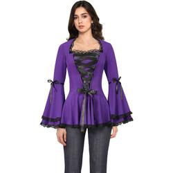 Vêtements Femme Chemises / Chemisiers Chic Star 50432 Violet