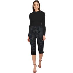 Vêtements Femme Pantalons Chic Star 82687 Gris / Noir