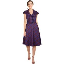 Vêtements Femme Robes Chic Star 811A2 Violet / Plaid