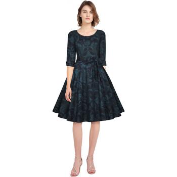 Vêtements Femme Robes Chic Star 82883 Bleu / Feuille
