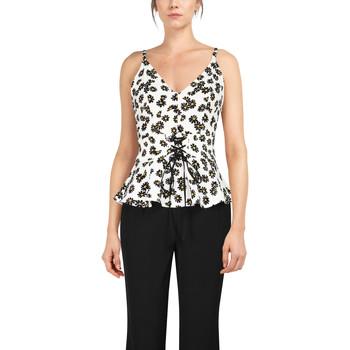 Vêtements Femme Débardeurs / T-shirts sans manche Chic Star 83918 Blanc / Floral