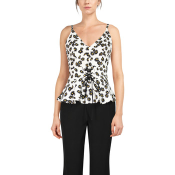 Vêtements Femme Débardeurs / T-shirts sans manche Chic Star 83908 Blanc / Fleuri