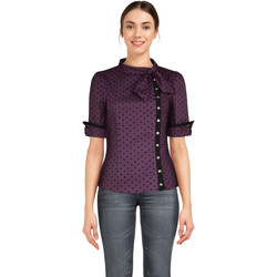 Vêtements Femme T-shirts & Polos Chic Star 83692 Purple / Stud