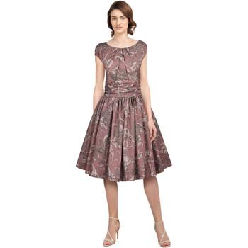 Vêtements Femme Robes Chic Star 82904 Rose / Feuille