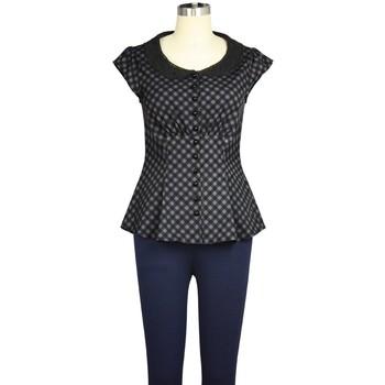 Vêtements Femme T-shirts & Polos Chic Star 822B7 Gris / Noir