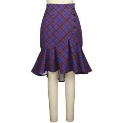 Vêtements Femme Jupes Chic Star 819D2 Violet / Plaid