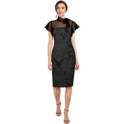 Vêtements Femme Robes Chic Star 817A0 Noir / Fleuri