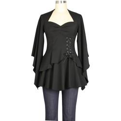 Vêtements Femme T-shirts manches longues Chic Star 74710 Noir