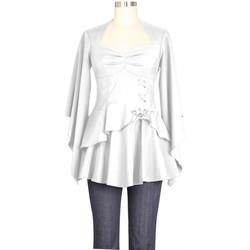Vêtements Femme T-shirts & Polos Chic Star 74768 Blanc