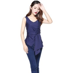 Vêtements Femme Débardeurs / T-shirts sans manche Chic Star 70713 Bleu