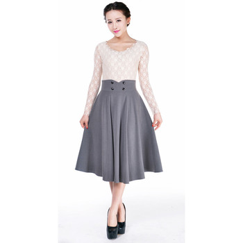 Vêtements Femme Jupes Chic Star 61377 Gris