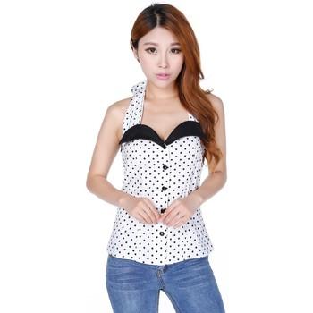 Vêtements Femme Débardeurs / T-shirts sans manche Chic Star 700N8 Blanc / pois