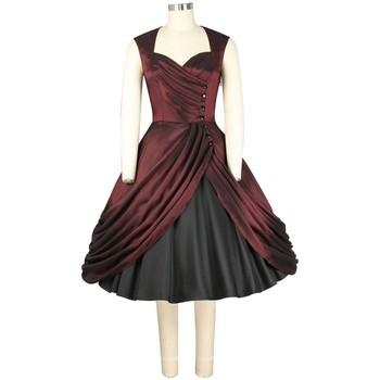 Vêtements Femme Robes Chic Star 741A1 Bordeaux / Noir