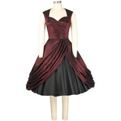 Vêtements Femme Robes Chic Star 741F1 Bordeaux / Noir