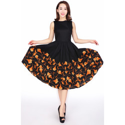 Vêtements Femme Robes Chic Star 51136 Noir / Jaune